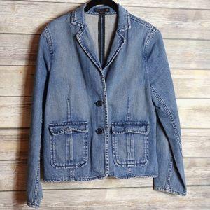 J. Crew Jeans Blazer Size M Used